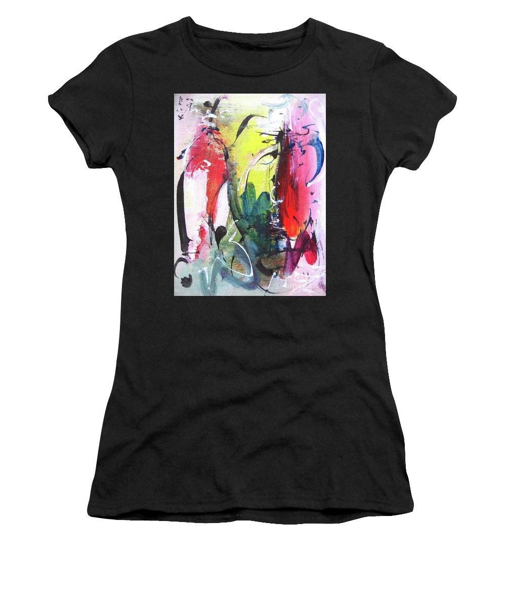 Abstract Landscape Painting Women's T-Shirt featuring the painting Abstract Landscape Painting by Seon-jeong Kim