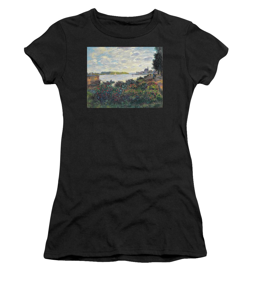 Landscape Women's T-Shirt (Athletic Fit) featuring the painting Landscape by Celestial Images