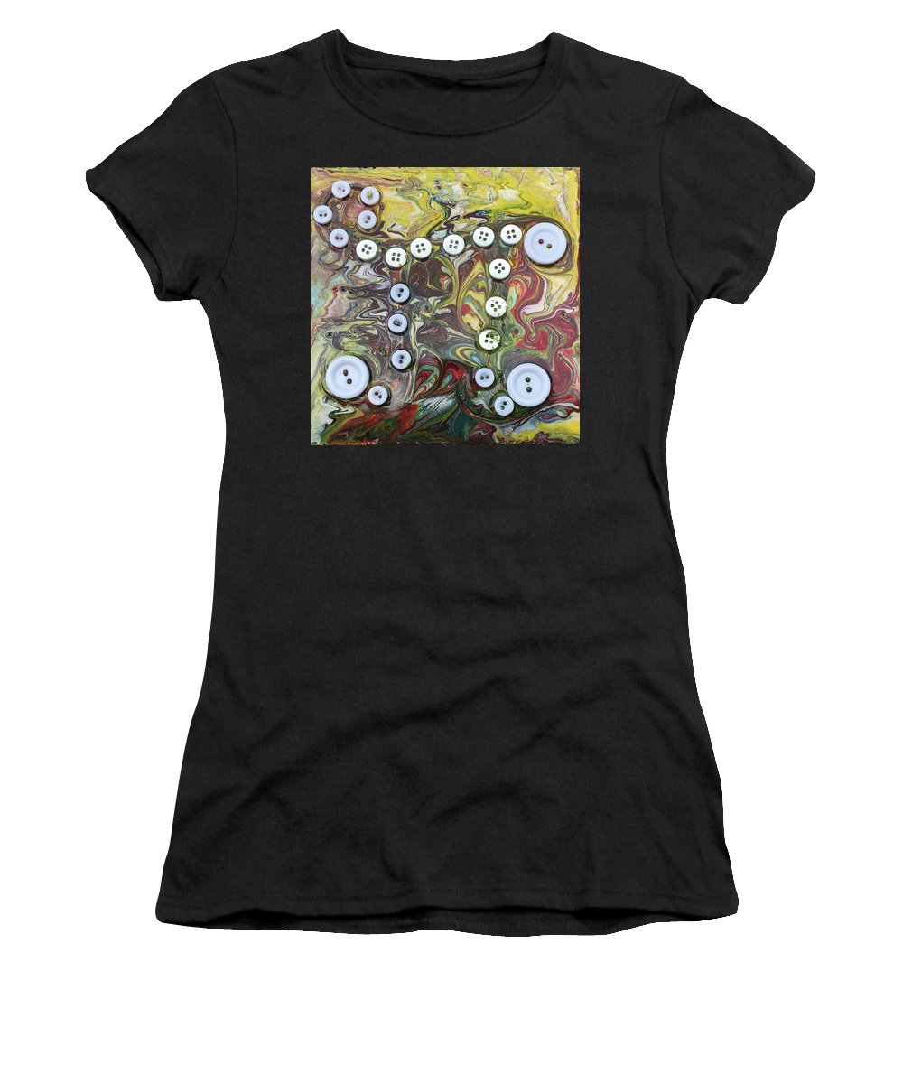 Math Women's T-Shirt (Athletic Fit) featuring the painting 3.16 by Regina Jeffers