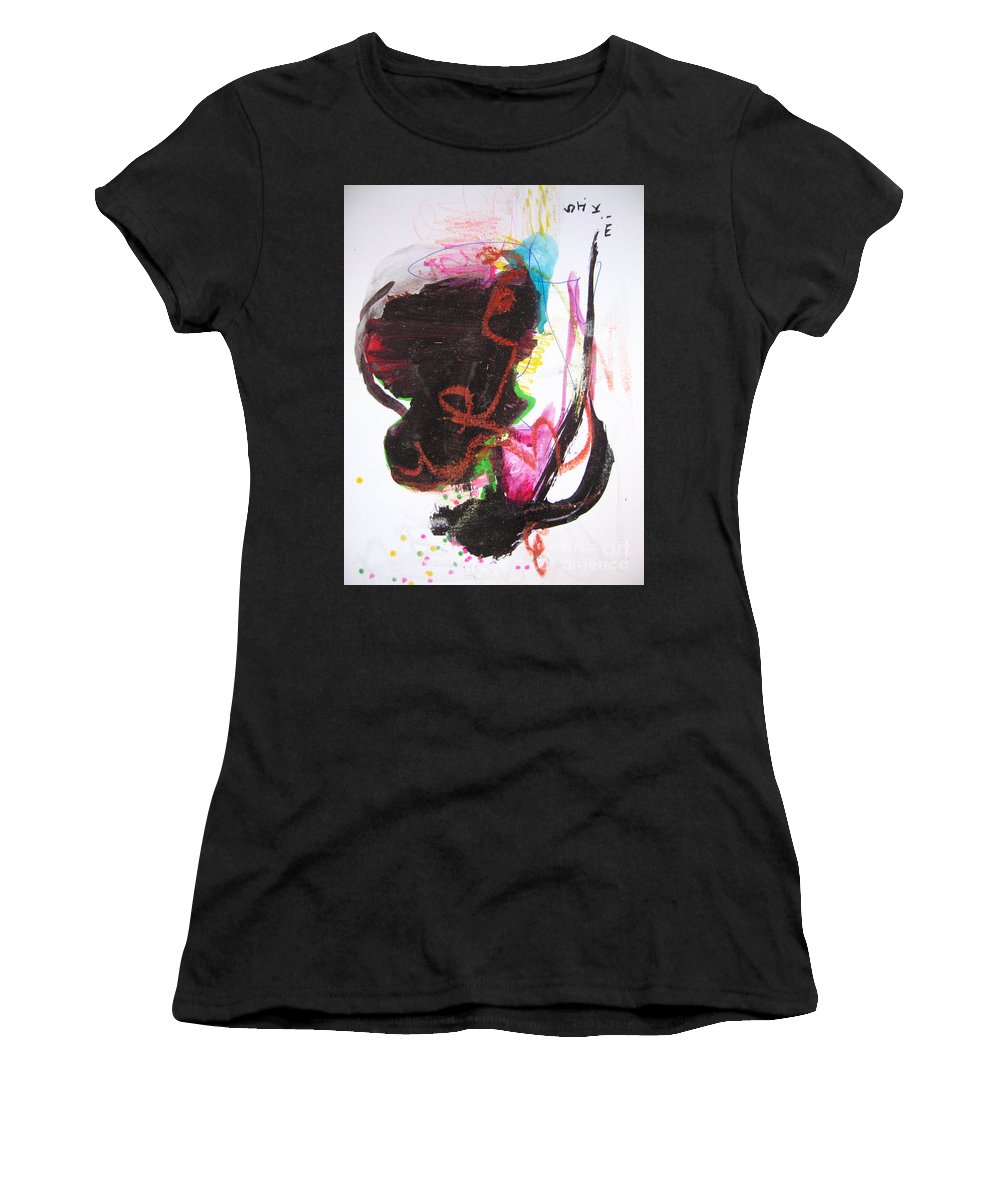 Sjkim Art Women's T-Shirt (Athletic Fit) featuring the painting Abstract Expressionsim Art by Seon-jeong Kim