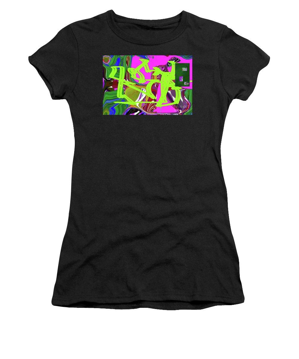Walter Paul Bebirian Women's T-Shirt (Athletic Fit) featuring the digital art 4-19-2015babcdefgh by Walter Paul Bebirian