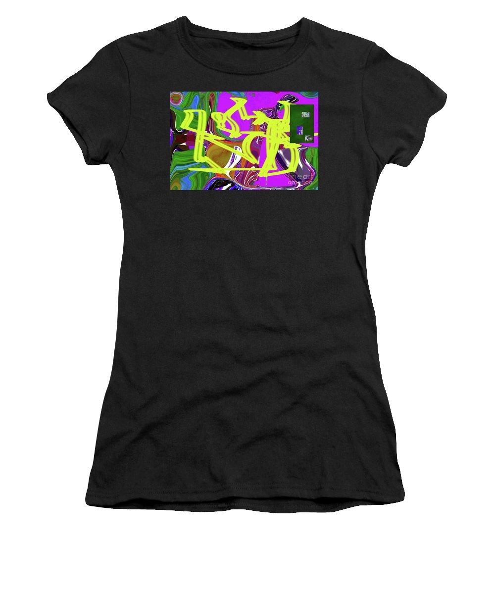 Walter Paul Bebirian Women's T-Shirt (Athletic Fit) featuring the digital art 4-19-2015babcdefghij by Walter Paul Bebirian