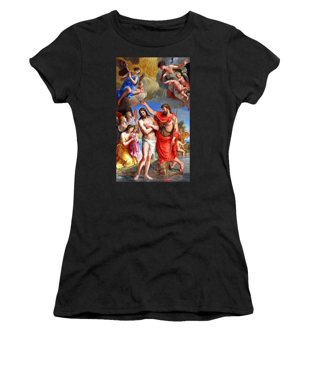 Baptism Women's T-Shirt featuring the painting Baptism by Munir Alawi