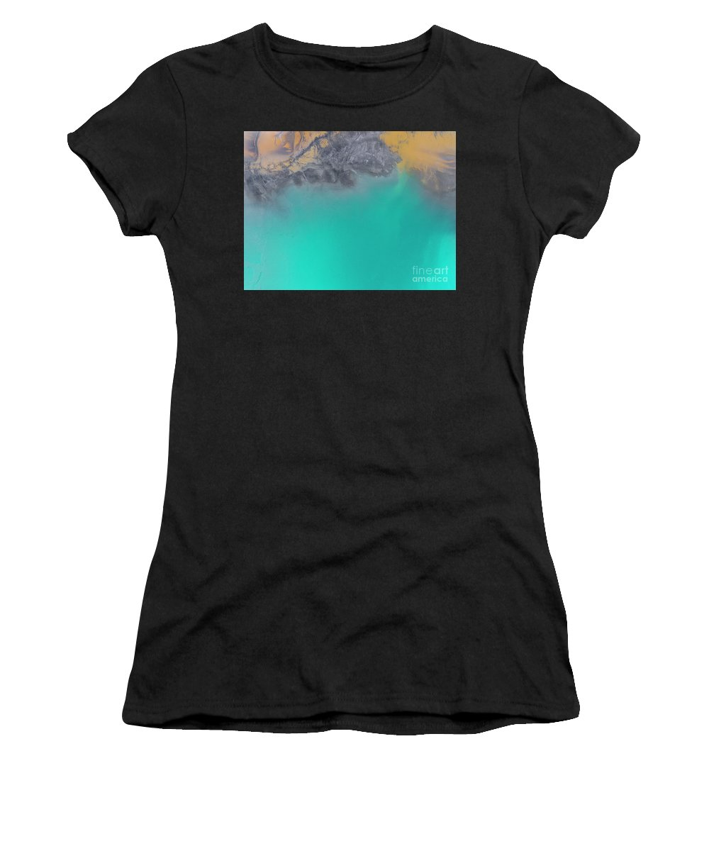 Fuel Women's T-Shirt (Athletic Fit) featuring the photograph Degraded Landscape In Poland. Destroyed Land. View From Above. by Mariusz Prusaczyk