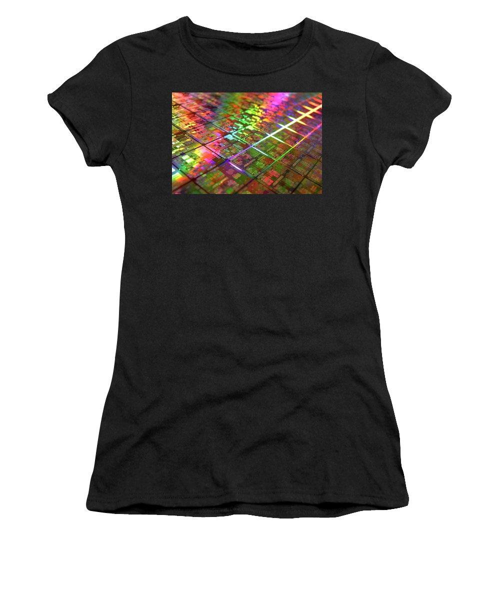 Hardware Women's T-Shirt (Athletic Fit) featuring the digital art Hardware by Mery Moon