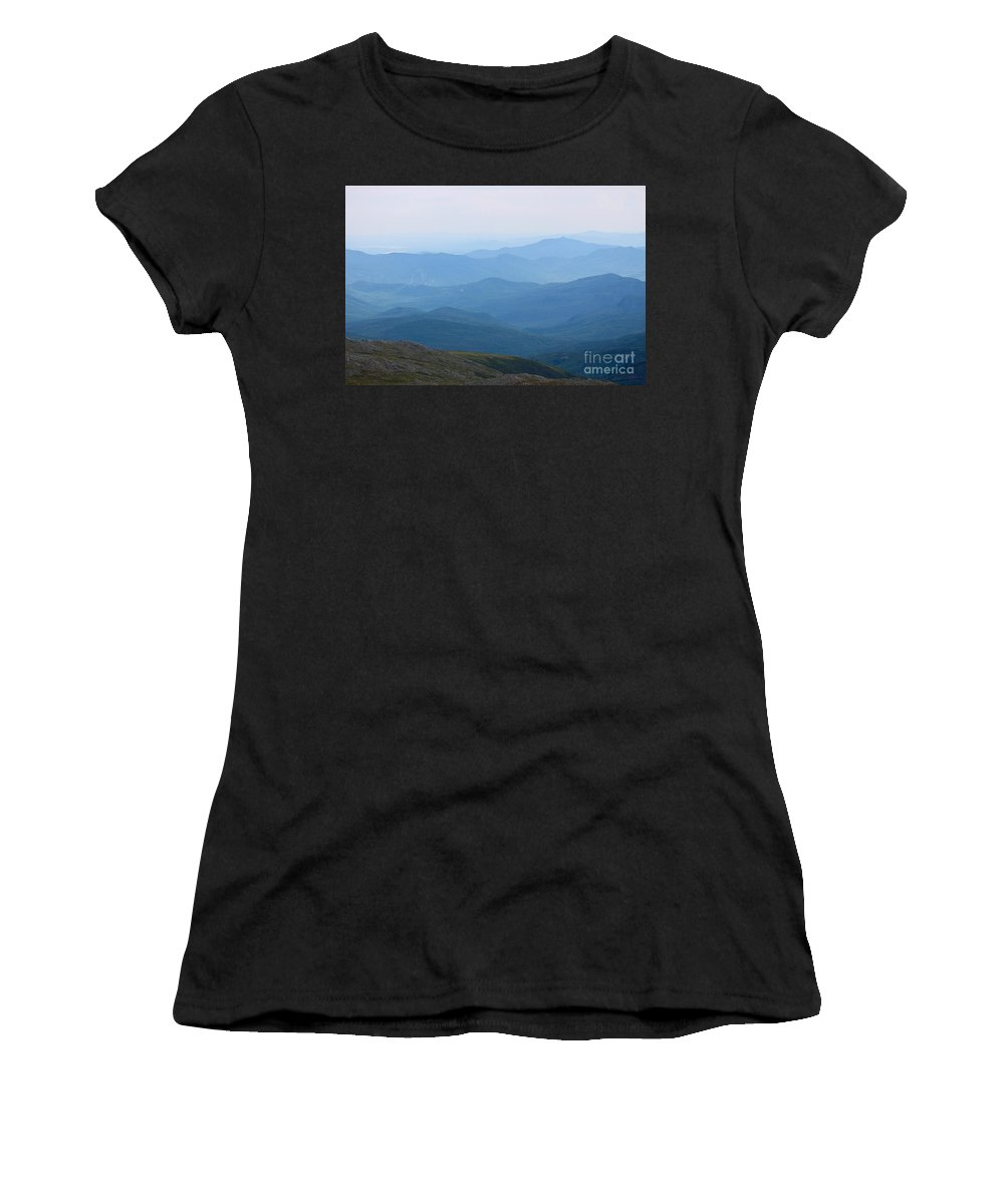 Mt. Washington Women's T-Shirt (Athletic Fit) featuring the photograph Mt. Washington by Deena Withycombe