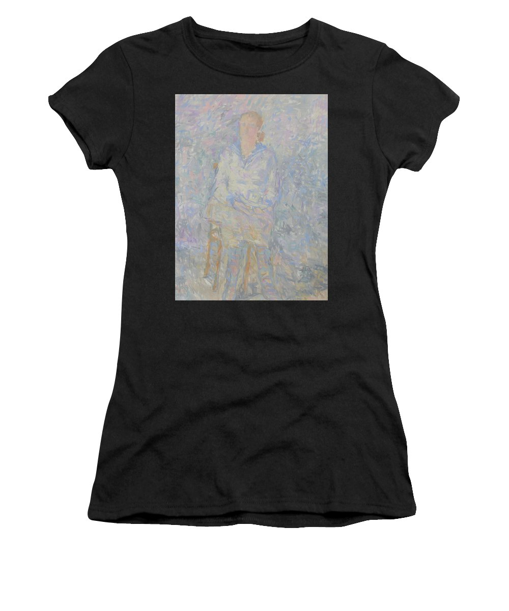 Person Women's T-Shirt featuring the painting Portrait by Robert Nizamov