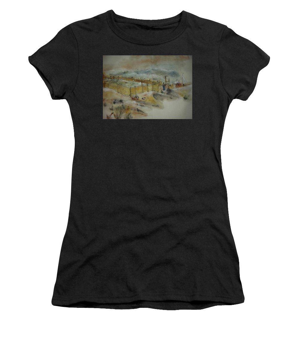 Van Gogh. Paintings.my Way Women's T-Shirt (Athletic Fit) featuring the painting Van Gogh In Chinese Style Album by Debbi Saccomanno Chan