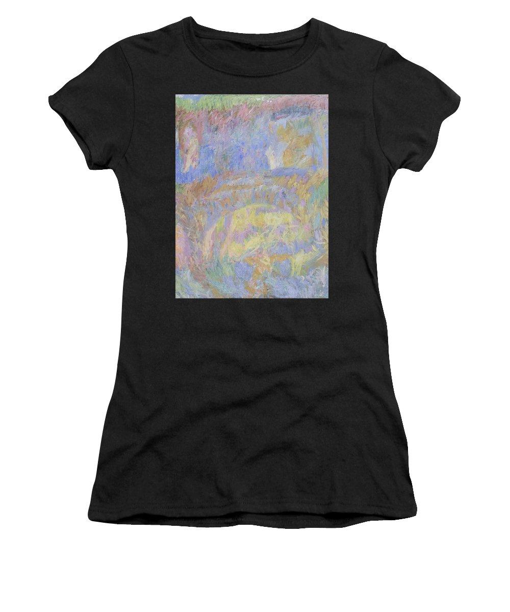 Summer Women's T-Shirt featuring the painting Wall by Robert Nizamov