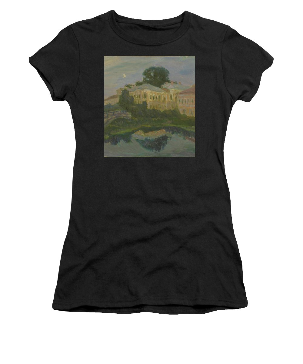 River Women's T-Shirt featuring the painting Landscape by Robert Nizamov