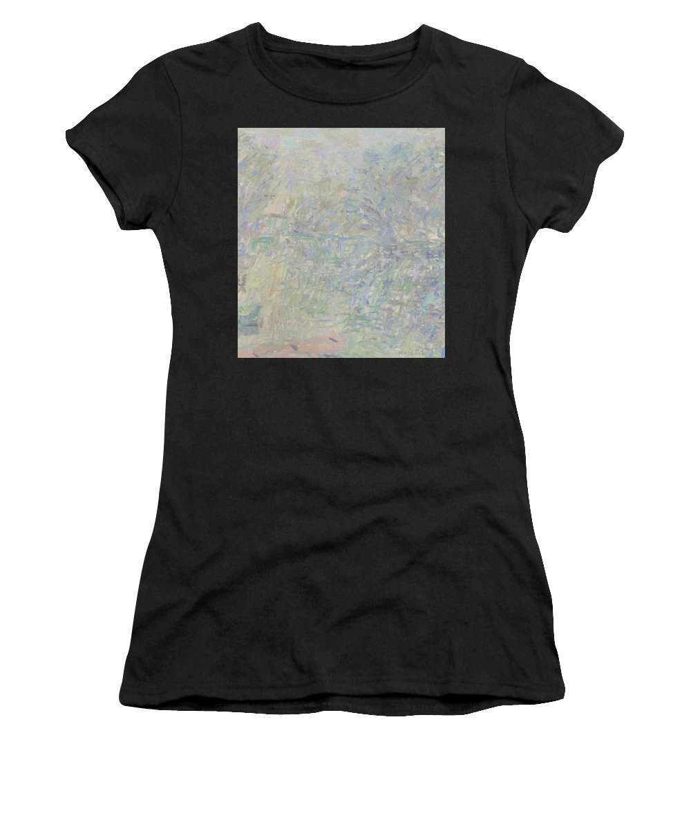Bay Women's T-Shirt featuring the painting River by Robert Nizamov