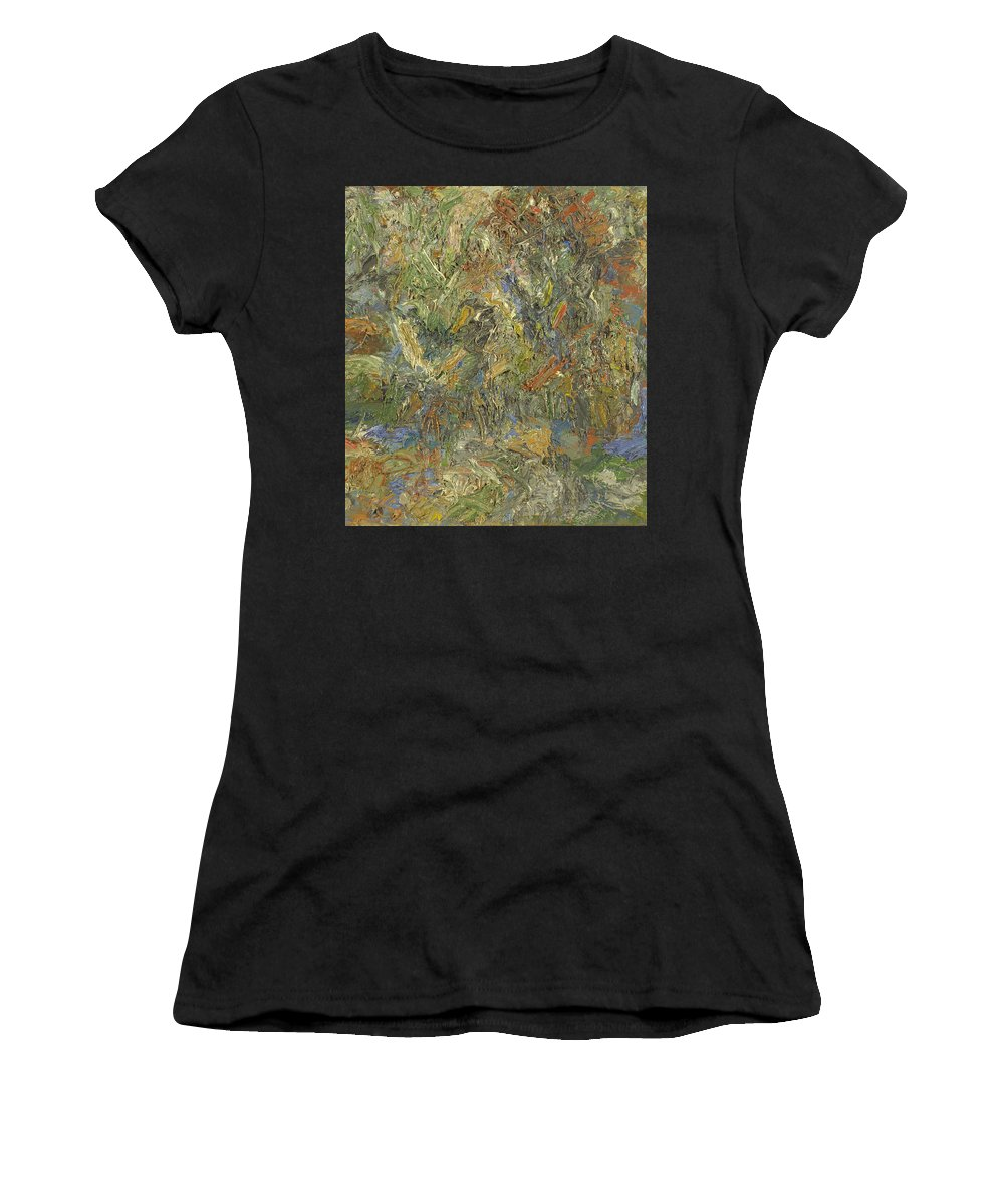 Impasto Painting Women's T-Shirt featuring the painting Landscape by Robert Nizamov