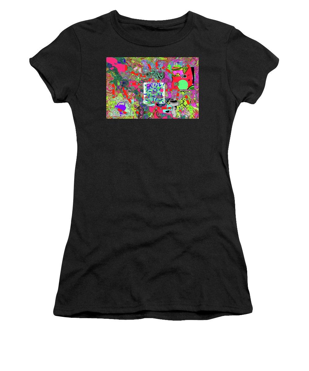 Walter Paul Bebirian Women's T-Shirt featuring the digital art 5-24-2015da by Walter Paul Bebirian