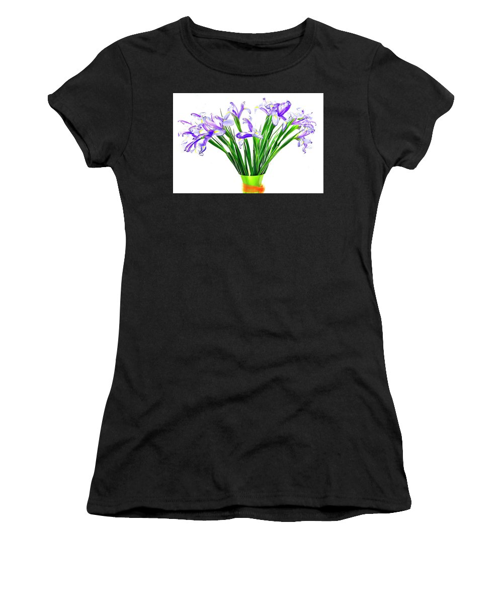 Flower Women's T-Shirt (Athletic Fit) featuring the photograph Majestic Iris by James Boone