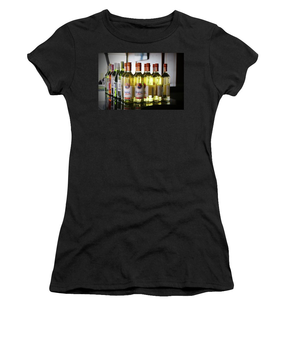 Drinks Women's T-Shirt (Athletic Fit) featuring the photograph Photographer by Tunu Evance