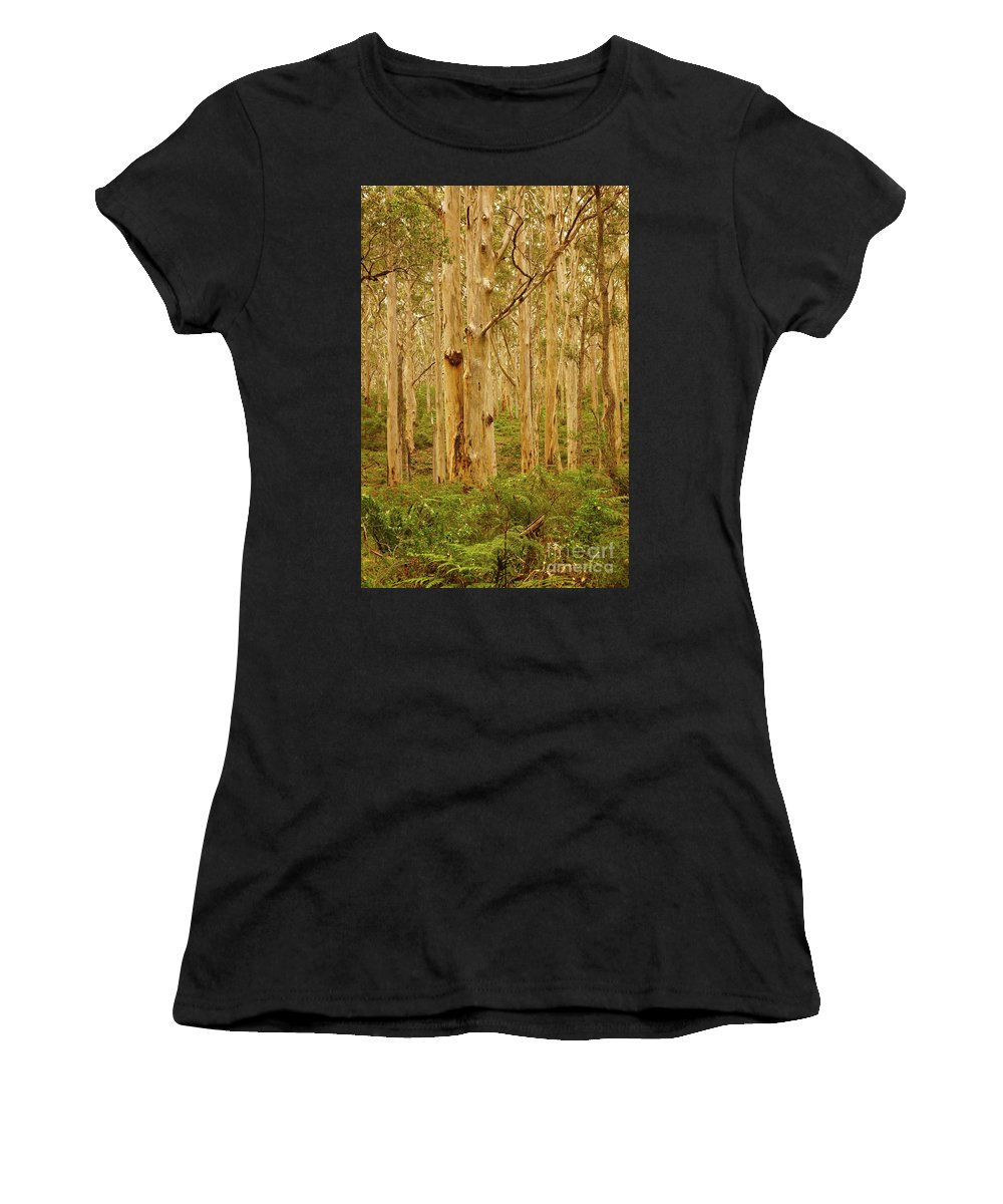Portrait Women's T-Shirt (Athletic Fit) featuring the photograph Boranup Forest II by Cassandra Buckley