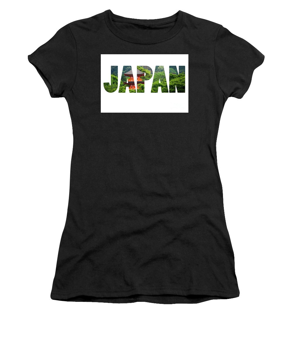 Zen Women's T-Shirt (Athletic Fit) featuring the photograph Five-storey Pagoda In Miyajima, Japan by Mariusz Prusaczyk