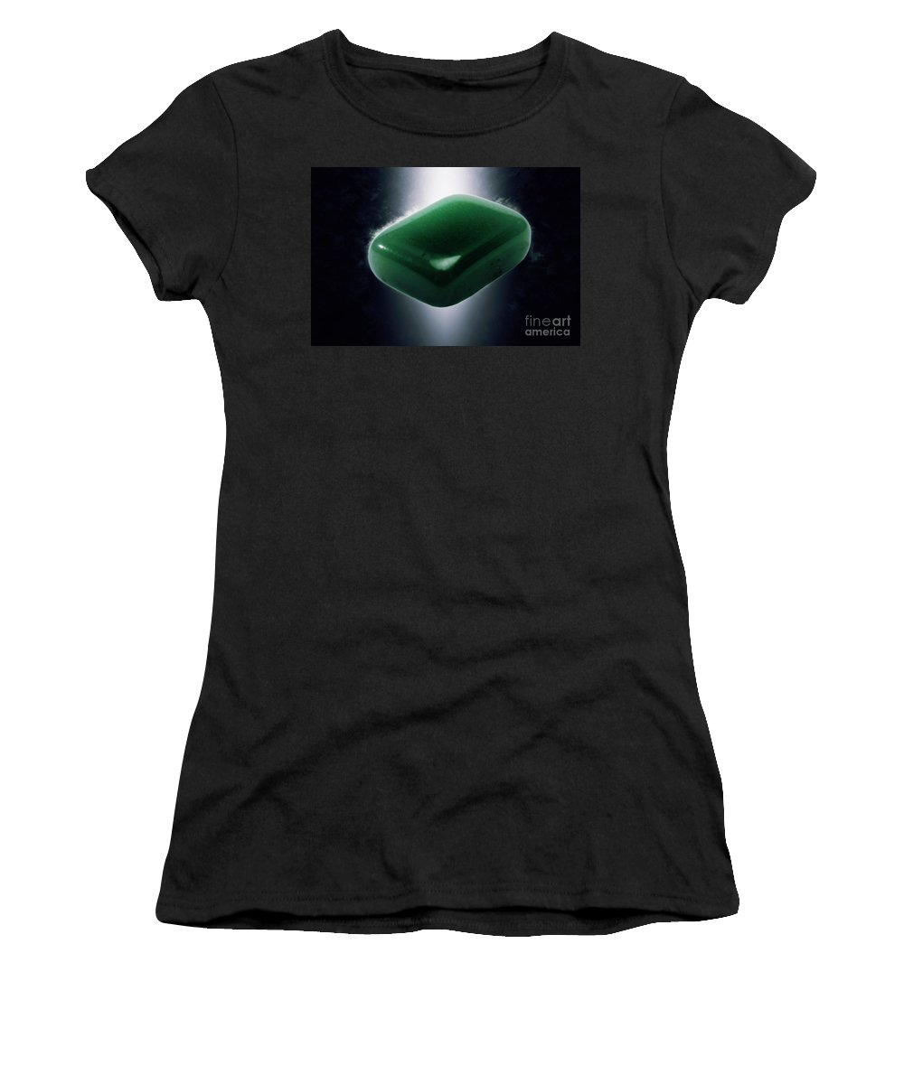Glowing Women's T-Shirt featuring the photograph Jade Semiprecious Gemstone by Ilan Rosen