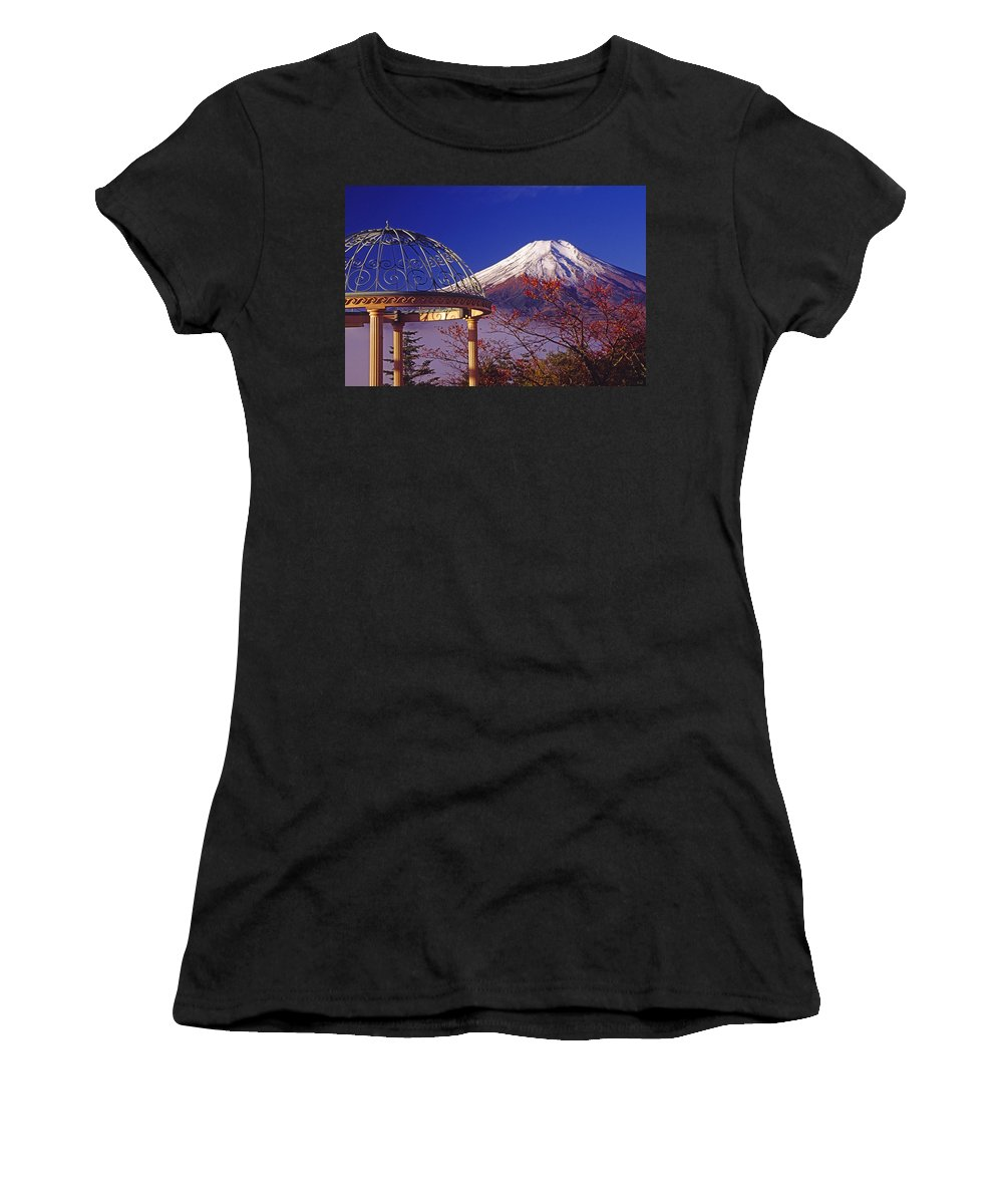 Japan Women's T-Shirt (Athletic Fit) featuring the photograph Mount Fuji In Autumn by Michele Burgess