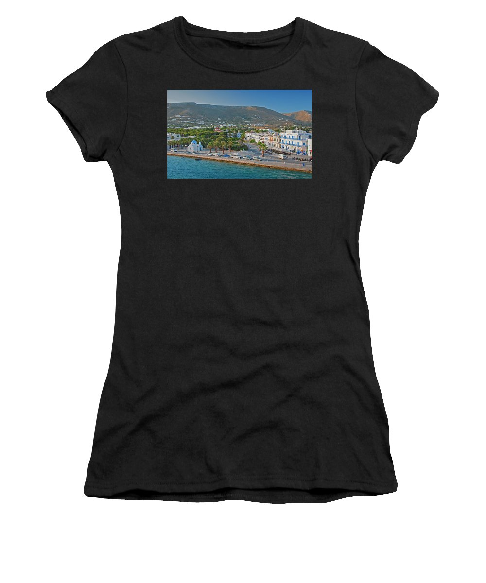 Island Women's T-Shirt (Athletic Fit) featuring the photograph Sifnos, Greece by Tom Zeman