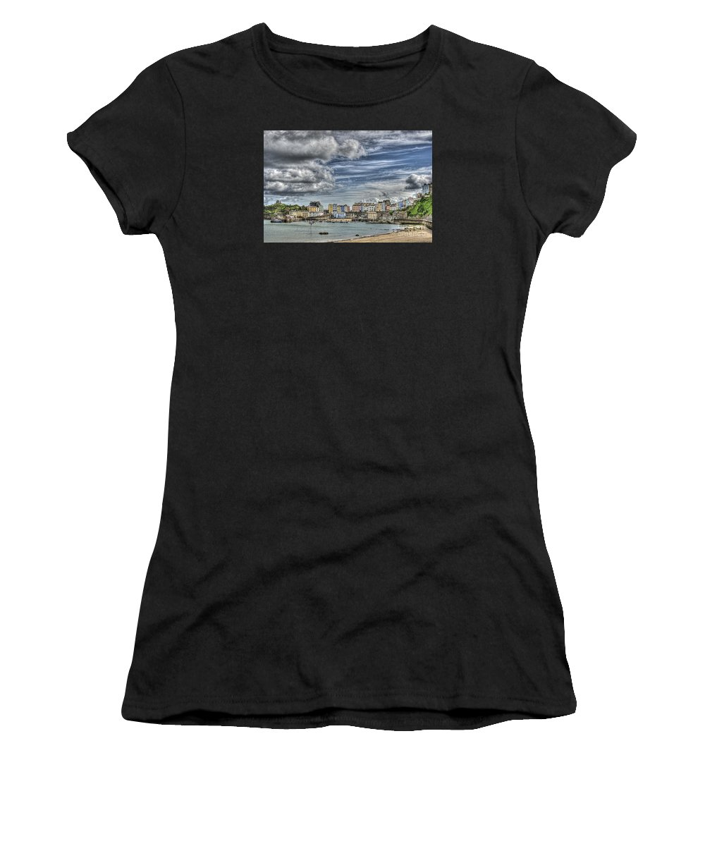 Tenby Women's T-Shirt featuring the photograph Tenby Harbour by Steve Purnell