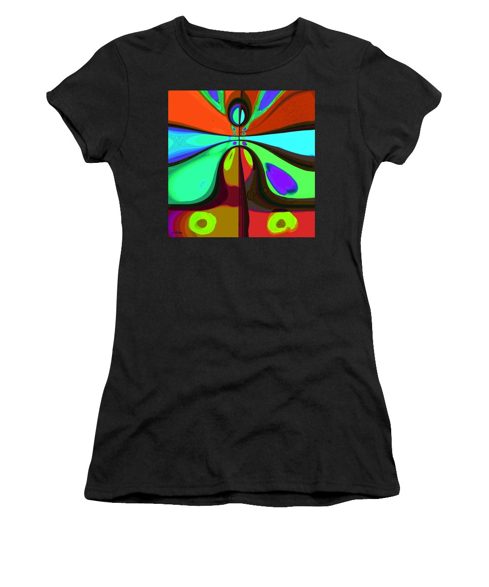 60s Women's T-Shirt (Athletic Fit) featuring the digital art 60s Free Love by Alec Drake