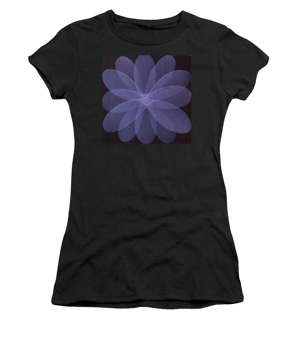 Abstract Women's T-Shirt featuring the painting Abstract flower by Jitka Anlaufova