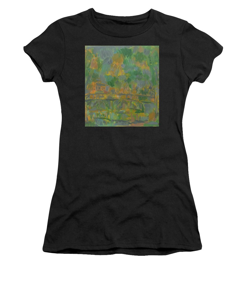 River Women's T-Shirt featuring the painting River by Robert Nizamov