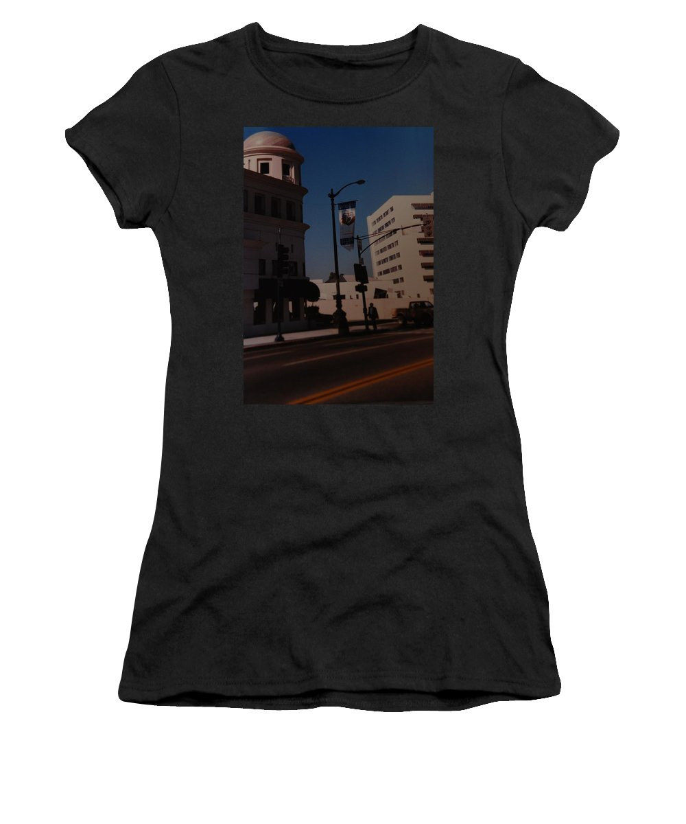 Hollywood California Women's T-Shirt (Athletic Fit) featuring the photograph 75th Hollywood by Rob Hans
