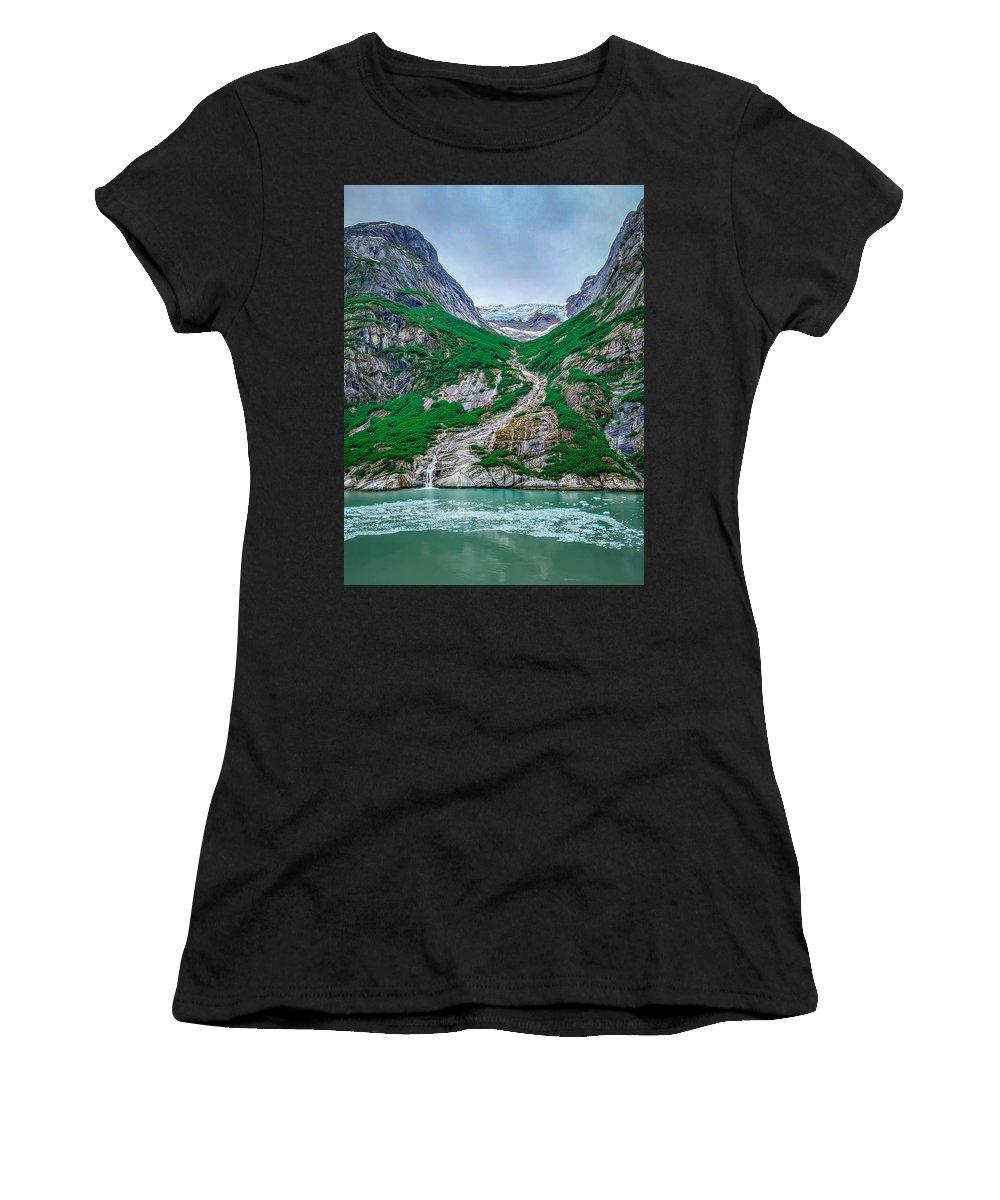 Mountain Women's T-Shirt featuring the photograph Inside Passage Mountain Views Around Ketchikan Alaska by Alex Grichenko