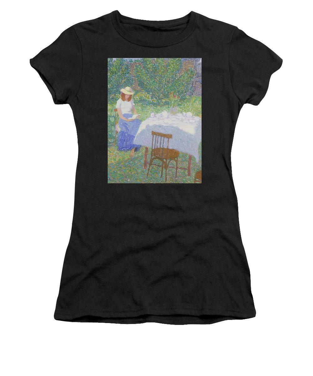 Beauty Women's T-Shirt featuring the painting Portrait by Robert Nizamov