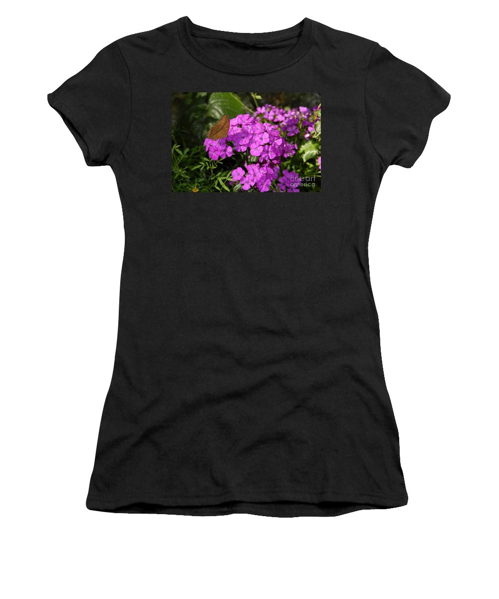 Butterfly Women's T-Shirt featuring the photograph A Beautiful Landing by David Lee Thompson