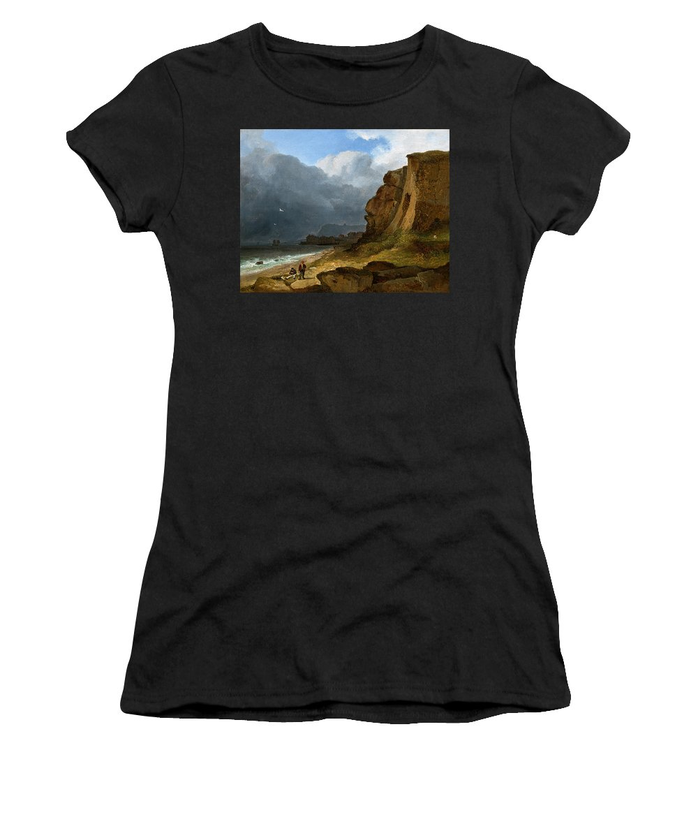 James O'connor Women's T-Shirt featuring the painting A Coastal Scene by James Arthur O'Connor