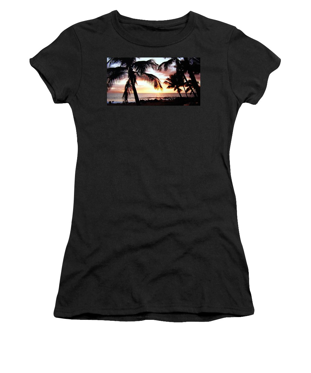 1986 Women's T-Shirt (Athletic Fit) featuring the photograph A Couple On The Shore by Will Borden