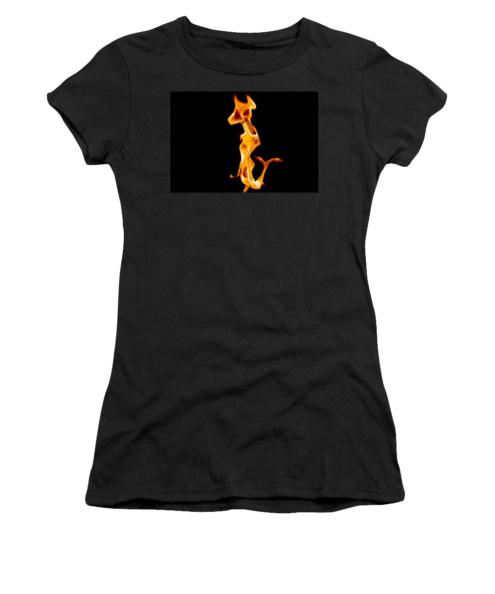 Fire Women's T-Shirt (Athletic Fit) featuring the photograph A Creature Of Another Planet by Munir Alawi
