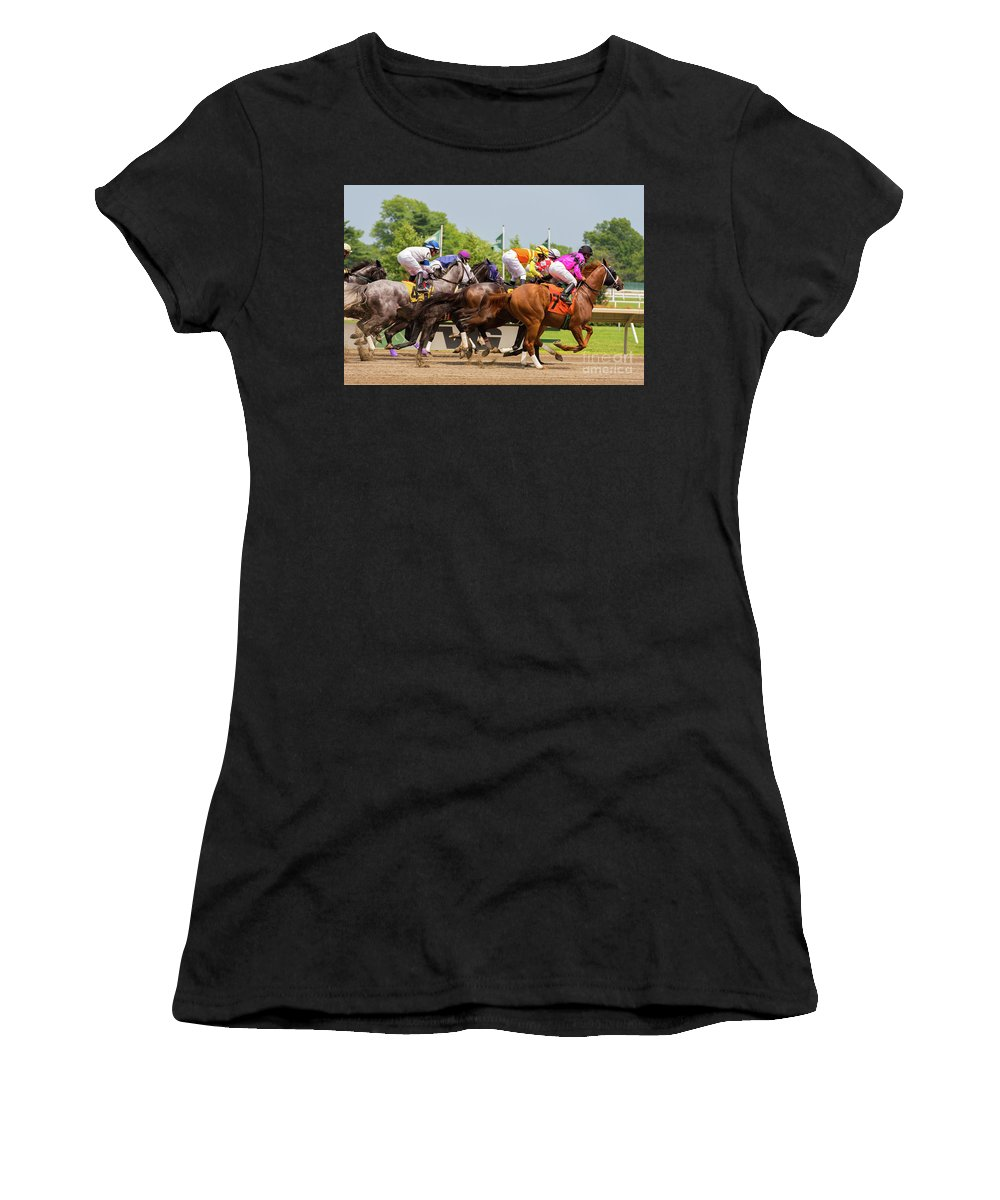 Bet Women's T-Shirt (Athletic Fit) featuring the photograph A Day At The Races by Joe Benning