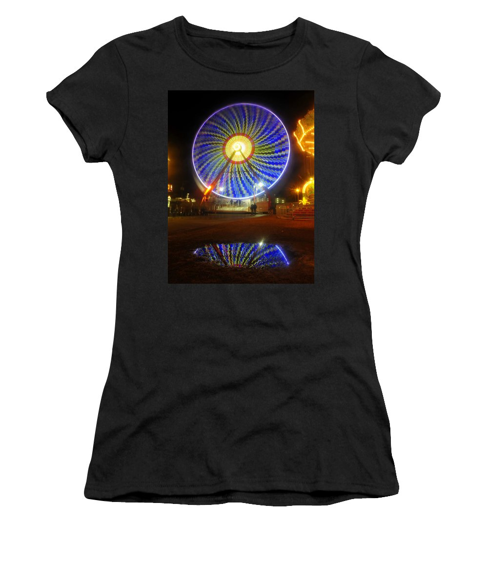 Florida State Fair Women's T-Shirt (Athletic Fit) featuring the photograph A Fair Reflection by David Lee Thompson