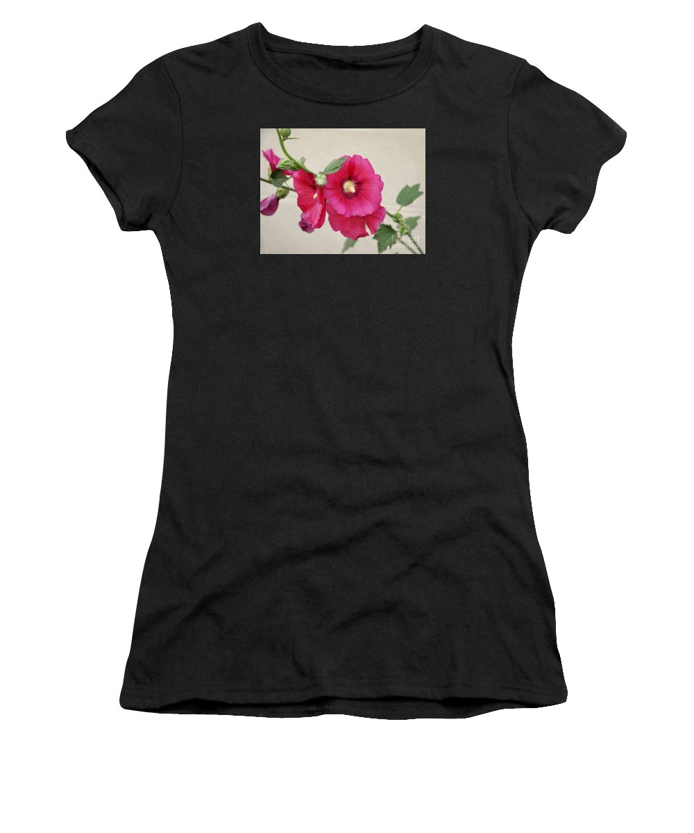 Flowers Women's T-Shirt (Athletic Fit) featuring the photograph A Gentle Bloom by Reb Frost