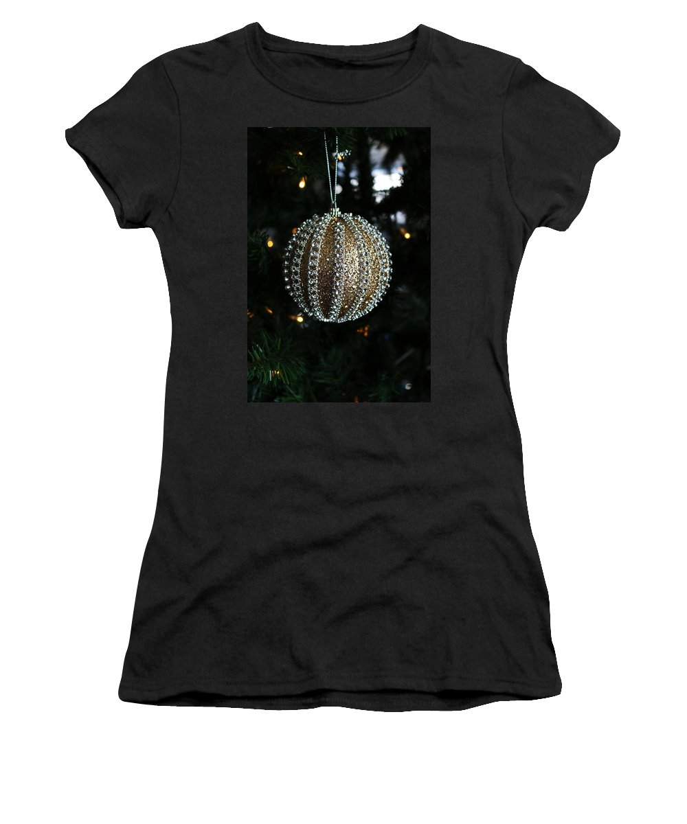 Gold Women's T-Shirt featuring the photograph A Gold Orb-vertical by Michiale Schneider