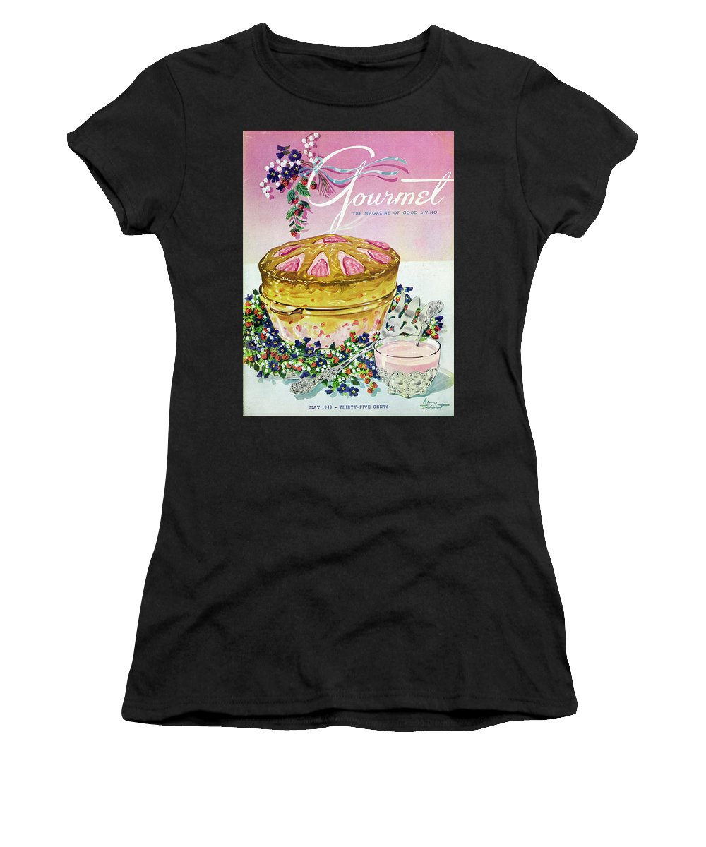 Illustration Women's T-Shirt featuring the photograph A Gourmet Cover Of A Souffle by Henry Stahlhut