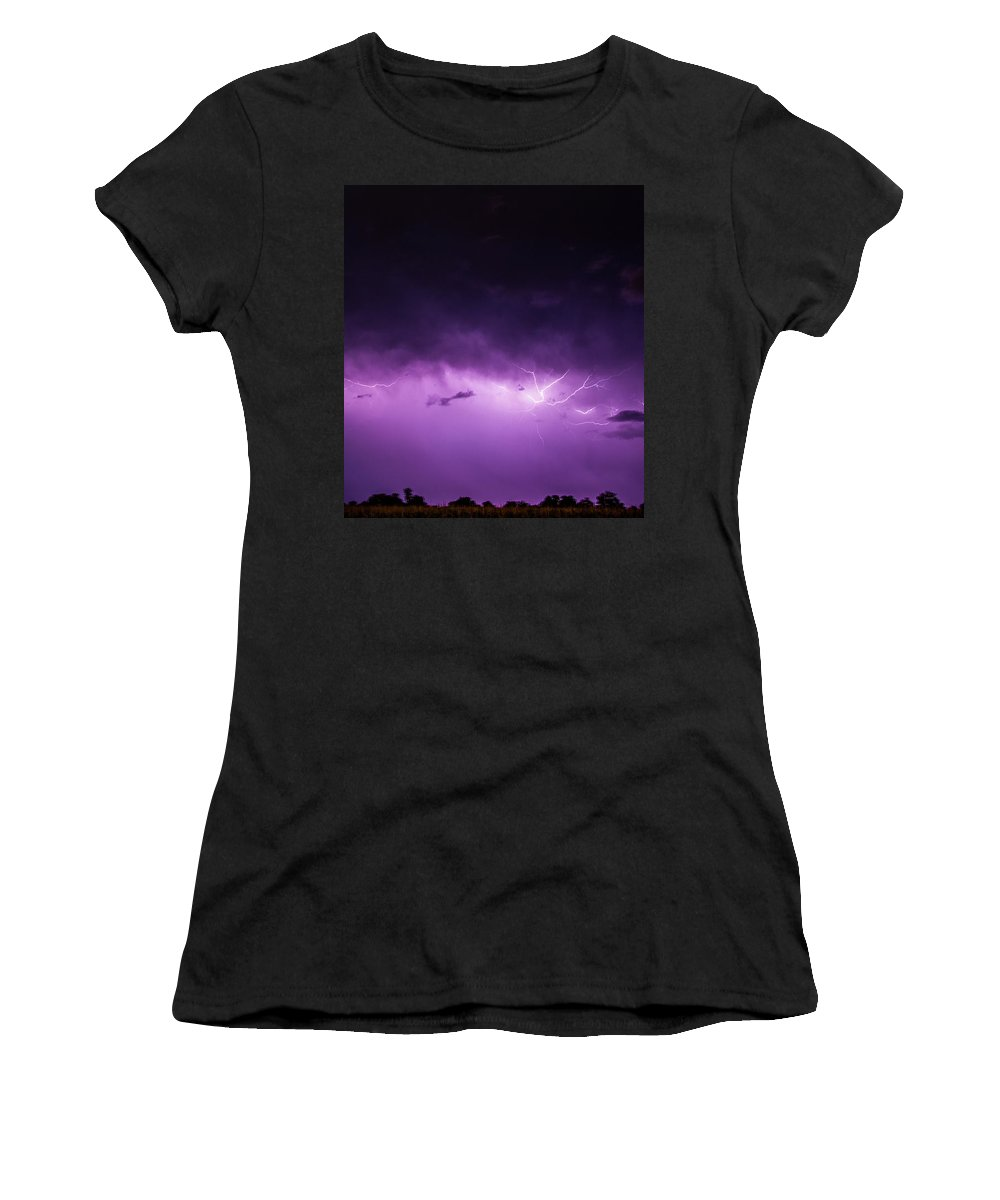 Nebraskasc Women's T-Shirt (Athletic Fit) featuring the photograph A Great Way To End This Chase Day 011 by NebraskaSC