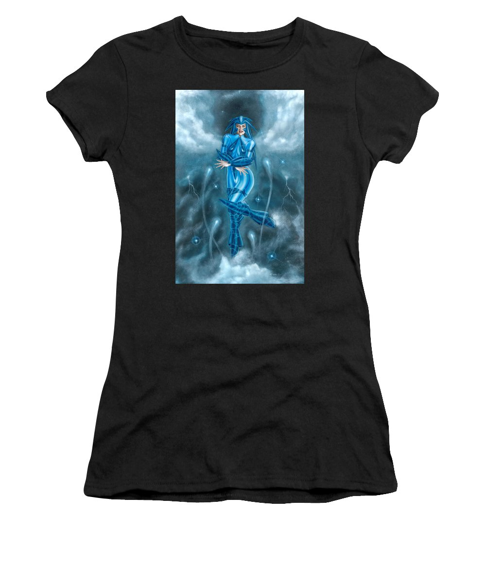 Clouds Women's T-Shirt (Athletic Fit) featuring the painting A Little Of Infinity by Edgar Espino