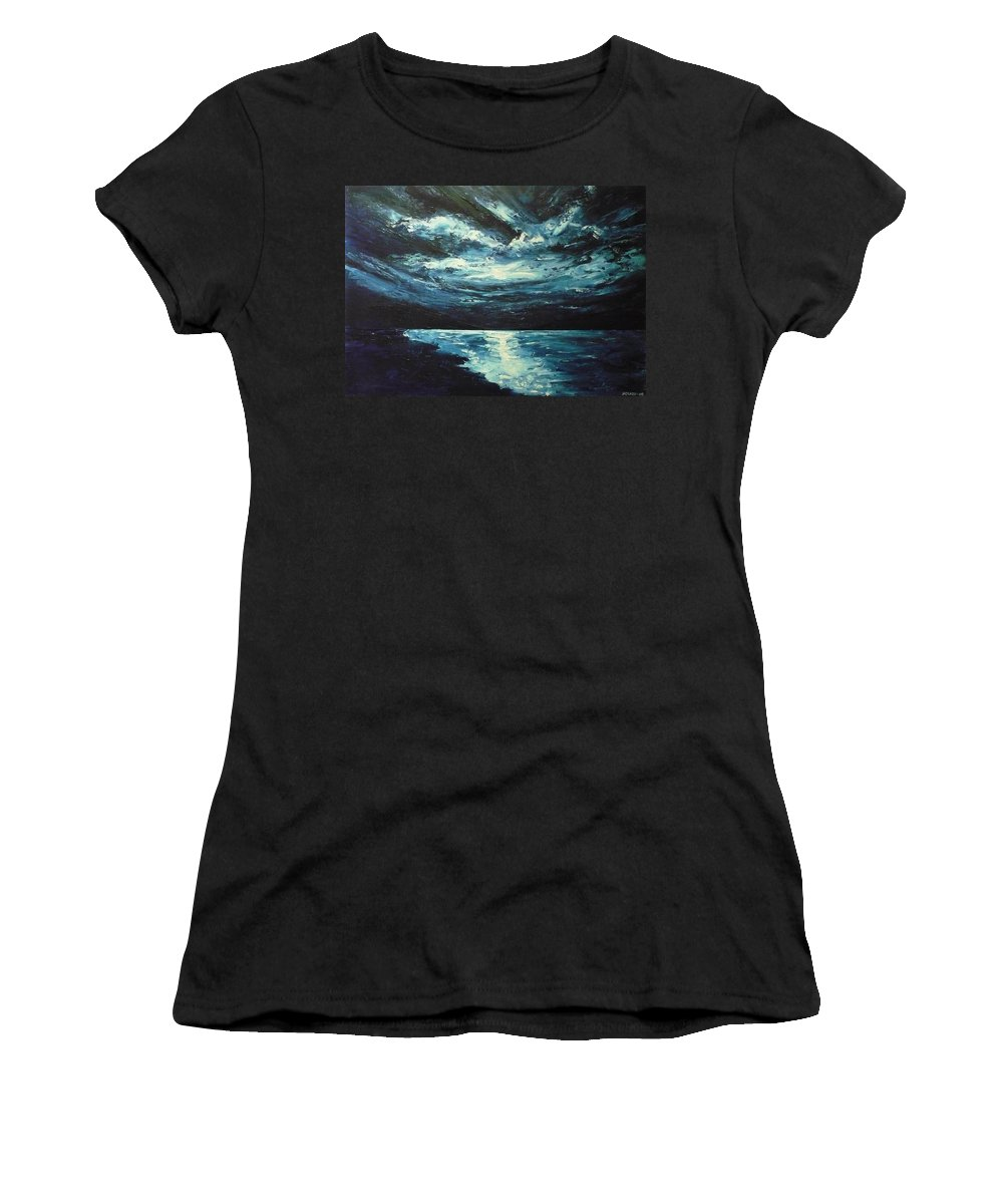 Landscape Women's T-Shirt (Athletic Fit) featuring the painting A Milky Way by Ericka Herazo
