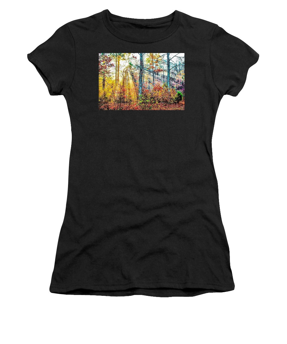 Forest Women's T-Shirt (Athletic Fit) featuring the photograph A Ray Of Hope by Chad Fuller