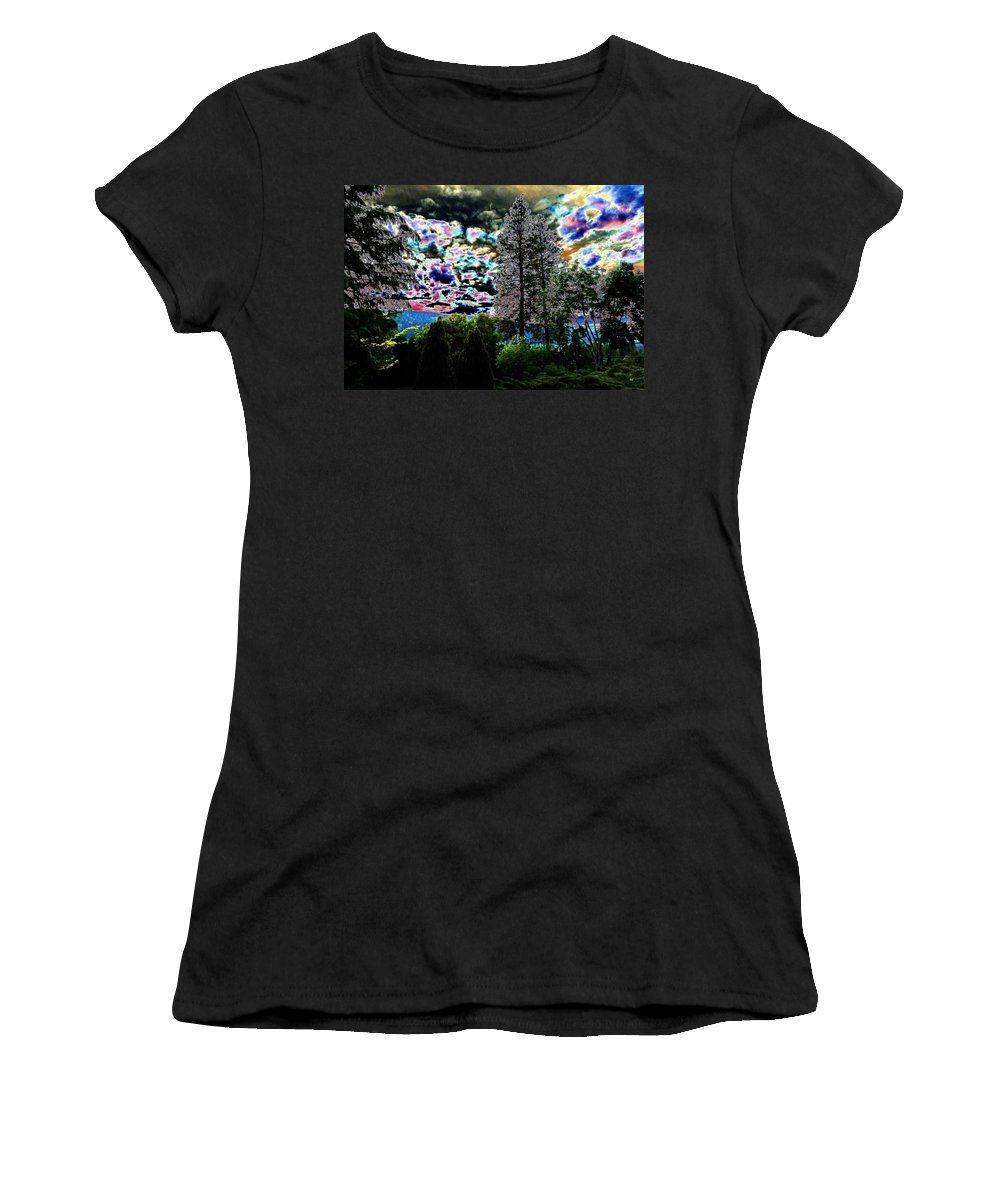 Sky Women's T-Shirt (Athletic Fit) featuring the digital art A Razzle Dazzle Sky by Will Borden