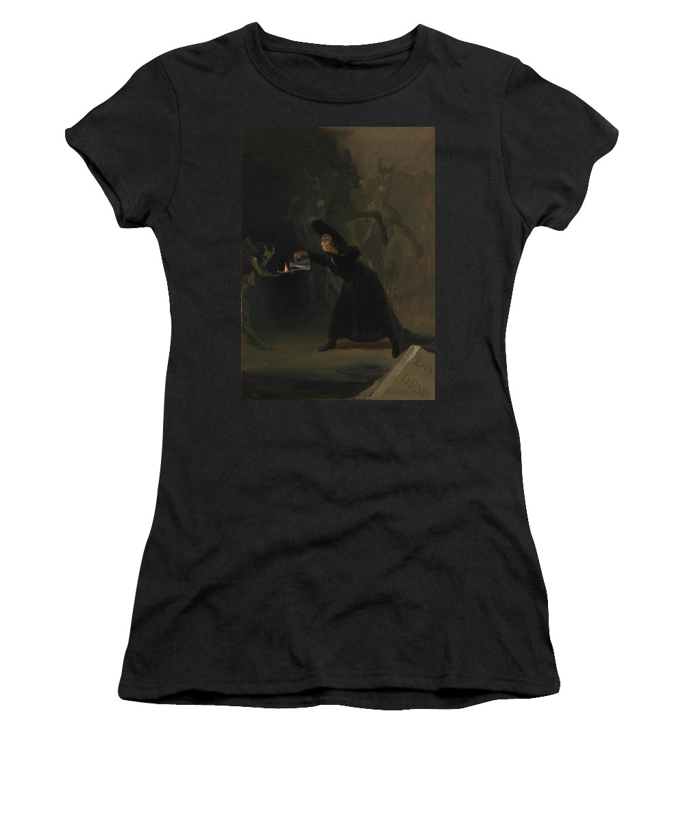 Francisco Women's T-Shirt (Athletic Fit) featuring the digital art A Scene From The Forcibly Bewitched by PixBreak Art