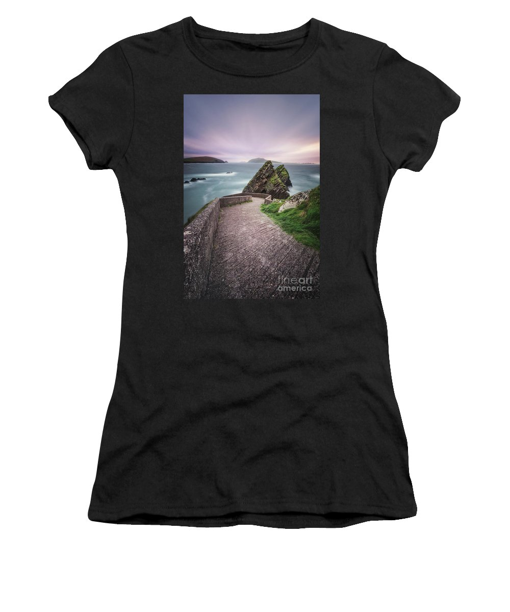 Kremsdorf Women's T-Shirt (Athletic Fit) featuring the photograph A Song For Ireland by Evelina Kremsdorf