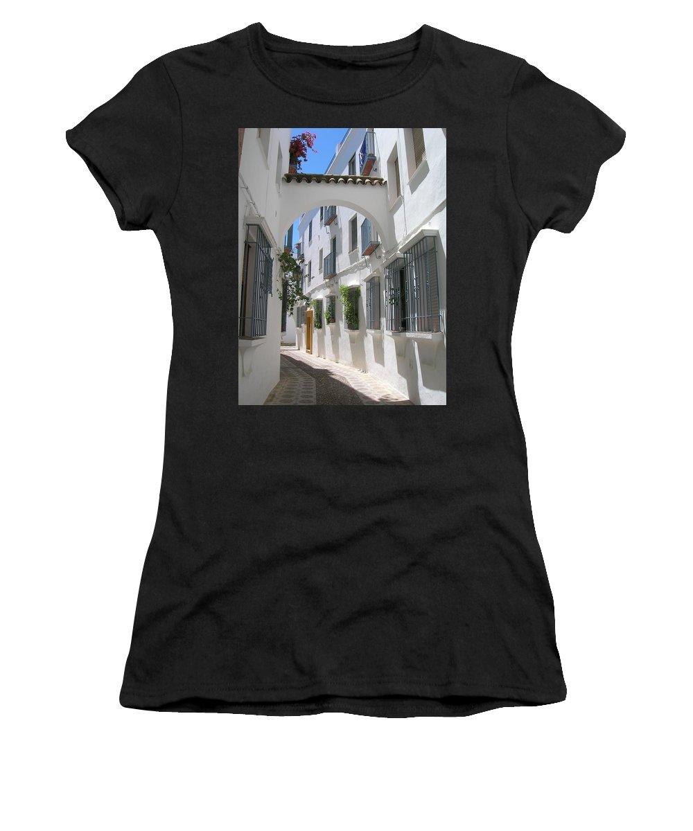 Calleja De Las Flores Women's T-Shirt featuring the photograph Calleja De Las Flores by Tiziana Verso