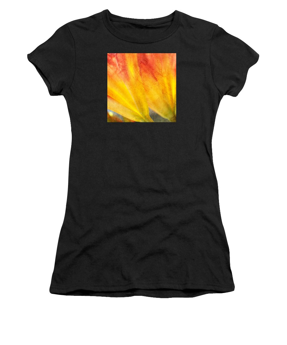 Day Lily Women's T-Shirt (Athletic Fit) featuring the photograph A Study In Red And Yellow by Chris Fleming