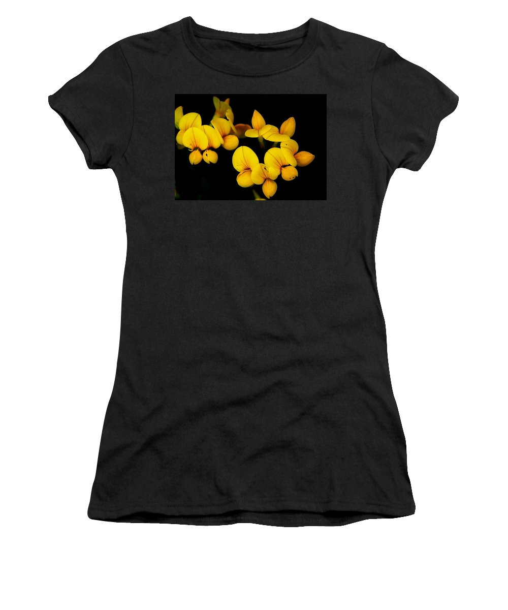 Digital Photography Women's T-Shirt (Athletic Fit) featuring the photograph A Study In Yellow by David Lane